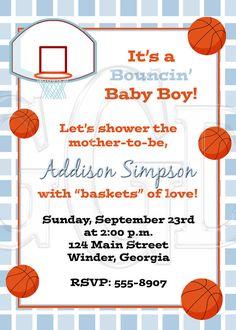 @Jennifer Crabbe Basketball Invitation Baby Shower Birthday Party Digital  File. $12.00, Via