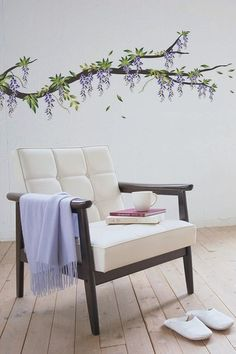Wisteria Removable Wall Decal Set - this would look amazing over a crib