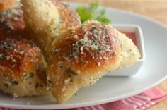 Game day essentials: Pizza Balls and Garlic Parmesan Crescents