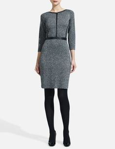 Leather-Trimmed Sweater Dress from THELIMITED.com