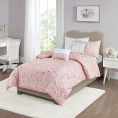 Bedroom Decor For Teen Girls, Teen Girl Bedrooms, Room Ideas Bedroom, Bedroom Décor, Bedroom Furniture, Comfy Bedroom, Bedroom Bed Design, Bedroom Designs, Grey Bed Frame