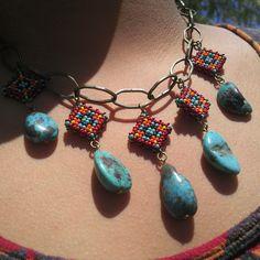 Navajo Diamond Necklace (Beyond Buckskin Boutique - Native American fashion)