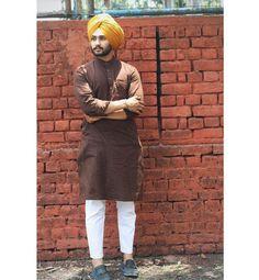 Motorcycle Style Outfit Men Menswear New Ideas Mens Indian Wear, Indian Groom Wear, Indian Men Fashion, Mens Fashion Blog, Mens Fashion Suits, Man Fashion, Punjabi Kurta Pajama Men, Kurta Men, Punjabi Men