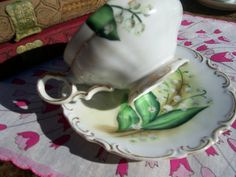 Hand painted Teacup Vintage Teacup with Lily by AuntMaysBoutique