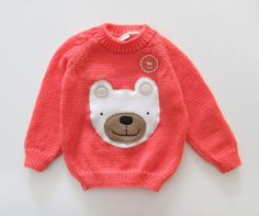 Bear coral sweater