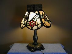 Stained Glass Lamp  Moroccan Floral Motif by SandECollectibles, $275.00