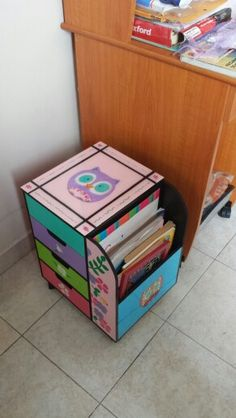 ♔  CHILD CRAFT ORGANIZER #CARDBOARDCRAFTS