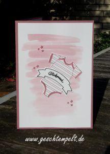 Stampin up, Babykarte, Zum Nachwuchs, Bannerweise Grüße, Made with love, Thoughtful Banners