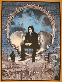 Jack White w/ Pokey LaFarge & the South City Three - silkscreen concert poster (click image for more detail) Artist: Rob Jones Venue: Red Rocks Amphitheater Location: Morrison, CO Concert Date: 8/8/20