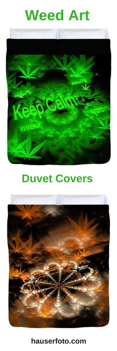 Weed Art Duvet Covers for sale: Beddings with cannabis symbols, perfect gift for every stoner / marijuana fan. Check out our cool stuff: http://matthias-hauser.pixels.com/shop/duvet+covers/weed Matthias Hauser - Art for your Home Decor and Interior Design needs.