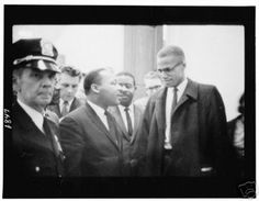 Martin Luther King Jr and Malcolm X vintage print (12 x 18)