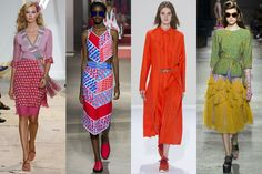 Rainbow Palettes It may be an obvious colour wheel given the season, but for spring/summer 2016 designers unleashed a collage of rainbow hues. From hot-pink at DVF and signature tangerine at Hermes to colour clashing at Kenzo and Dries Van Noten, next summer the fashion world is determined to make the rest of the world a brighter place.