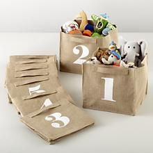 Kids Storage: Canvas Number Storage Bins // Gimme!!!