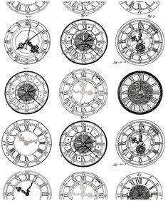 Free coloring page coloring-difficult-anciennes-montres. Ancient Engraving of old watches, very diverses in their styles. To print and color Old Clock Tattoo, Clock Tattoo Design, Forearm Tattoo Design, Tattoo Designs, Compass Tattoo, Time Piece Tattoo, Clock Drawings, Tattoo Zeichnungen, Adult Coloring Pages