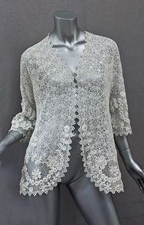 Irish lace jacket 1920s