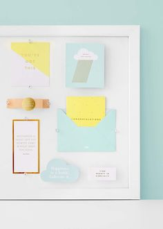 See your dreams and goals with a gorgeous Vision Board - perfect for styling your home office Stationery Paper, Stationery Design, New Crafts, Paper Crafts, Carton Board, Creative Lettering, Home Office, Mind Body Spirit, Summer Diy