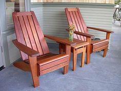mission style adirondack chairs from www celeskistudios com