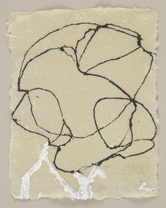 Brice Marden. 4 Howell Paper Drawings. 1996. Ink on handmade paper