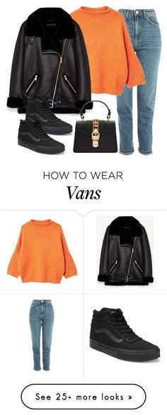 """Untitled #2975"" by andrea2597 on Polyvore featuring Topshop, MANGO, Vans and Gucci"