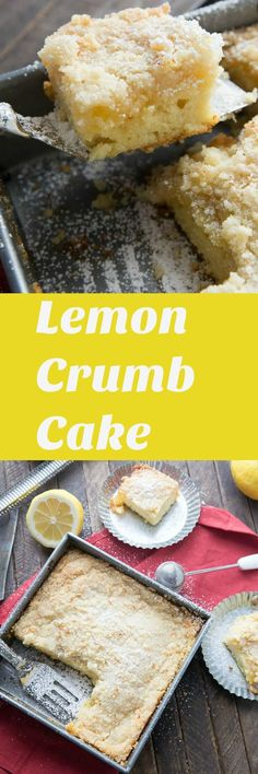 Who can resist a tender crumb cake especially when it explodes with a bright, lemony flavor? This fluffy cake has a tangy lemon curd layer and a buttery crumb topping. It is a wonderful cake for spring! lemonsforlulu.com
