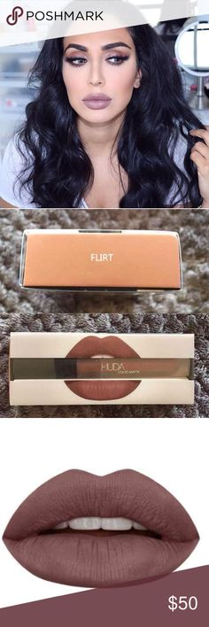Huda Beauty Liquid Matte in Flirt Huda Beauty Liquid Matte in Flirt. Brand new. Never used or swatched.  TRADES. PRICE IS FIRM. Also listed on Ⓜ️ for $40 with free shipping. Huda Beauty Makeup Lipstick