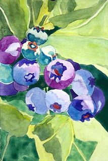 Watercolor - Blueberry series
