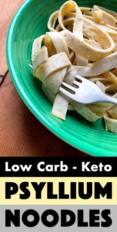 Noodles are one of the foods that low carb dieters miss the most. But luckily, these Keto Psyllium Husk Powder noodles have got you covered. The noodles are healthy, and gluten free. They are super easy to make and have just net carbs per serving. Very Low Calorie Foods, Low Calorie Recipes, Keto Recipes, Snack Recipes, Cooking Recipes, Paleo Meals, Paleo Food, Healthy Recipes, Low Carb Flour