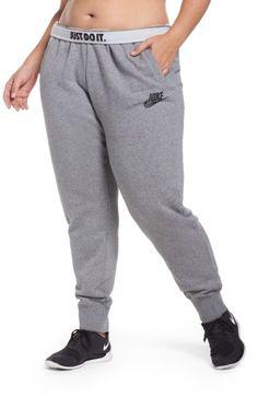 ec2eb3988d62 Plus Size Women s Nike Drawstring Fleece Pants (activewear)