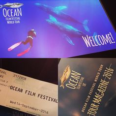 Date night part 2! Ocean Film Festival  We may not live beachfront anymore but we're still obsessed with all things marine