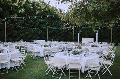 Diner outdoor wedding, tables, decoration