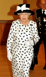 Queen Elizabeth II Print Dress