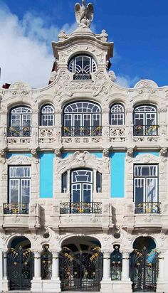 Art Nouveau Architecture, Beautiful Architecture, Beautiful Buildings, Beautiful Places, Visit Portugal, Spain And Portugal, Nova, Places Around The World, Around The Worlds