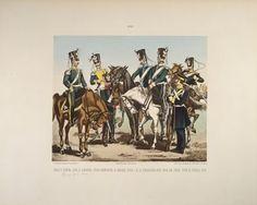 Cavalry - page 8 of a Polish illustrated album commemorating the November Uprising in 1831, published by Karol Kozlowski, printed by Czcionkami Drukarni Dziennika Poznan Boskiego, c.1887 Wall Art & Canvas Prints by Juliusz Fortunat Kossak