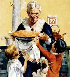 Thanksgiving Pie    -     Norman Rockwell