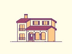 Spanish Homes are Hot by Chris Munroe - Dribbble
