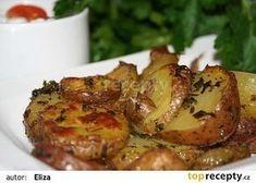 Bylinkové brambory recept (zakysaná smetana,niva česnek,bylinková kostka)