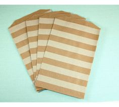 White Horizontal Striped Middy Bitty Bags�