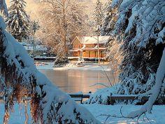 Winter at Port Moody, British Columbia, Canada