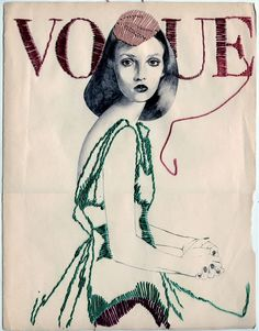 Vogue in stitches by Montse Bernal.