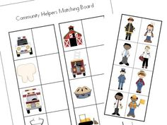 Printables Free Community Helpers Worksheets free printable community helpers activity helper preschool science activities on ehow com