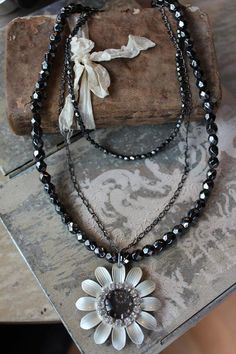 Midnight Bloom Necklace by HaveFaithDesigns on Etsy