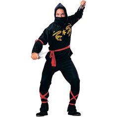 Men's NINJA COSTUME HALLOWEEN COSTUME COSPLAY NEW  M L XL 2XL #Rubies #CompleteOutfit
