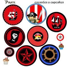 top_cupcakes Party Fiesta, Party Co, Party Time, Pirate Birthday, Pirate Theme, Decoration Pirate, Pirate Cupcake, Fairy Invitations, Birthday Party Themes