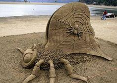 2012 sand castles competition held at Cannon Beach, Oregon.