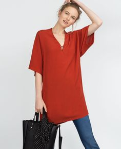 V-NECK TUNIC-View all-Dresses-WOMAN | ZARA United States