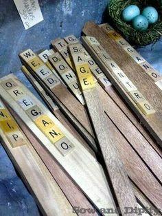Scrabble labels