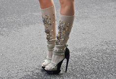 Who says socks with sandals isn't fierce! @Kristina Olack