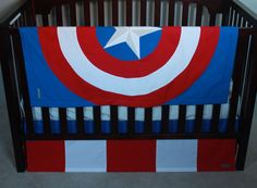 Marvel Avengers Baby Bedding--captain America--custom Crib Bedding