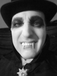 My husband Brad makes a great vampire...