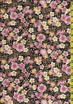 Kona Bay Japanese Asian Quilting Fabric - Sanctuary Cherry Blossoms - Rose Pink